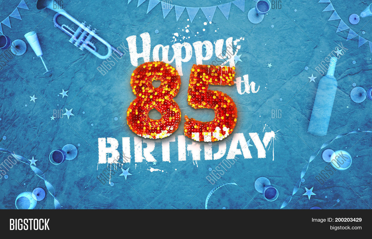 Happy 85Th Birthday Card With Beautiful Details