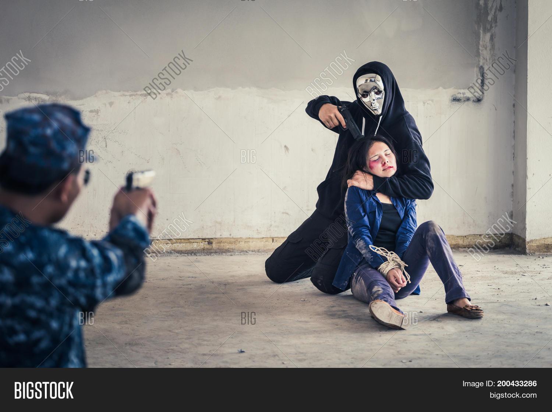 Terrorist Man Mask Image Photo Free Trial Bigstock