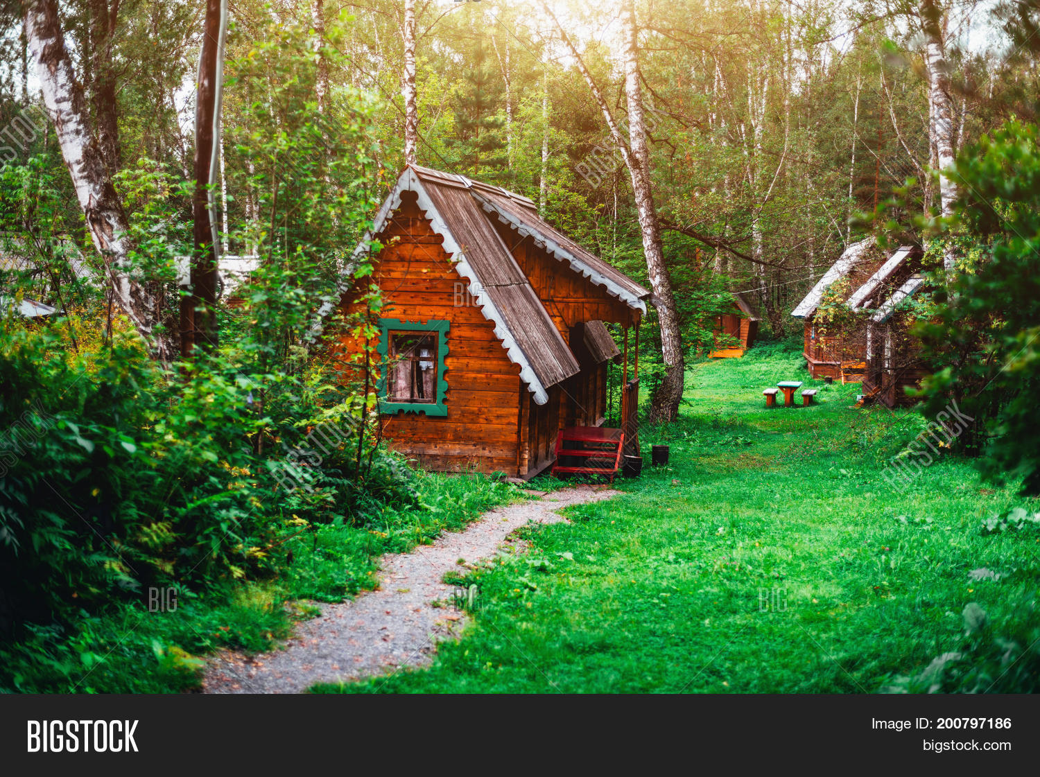 Small Wooden House Image Photo Free Trial Bigstock