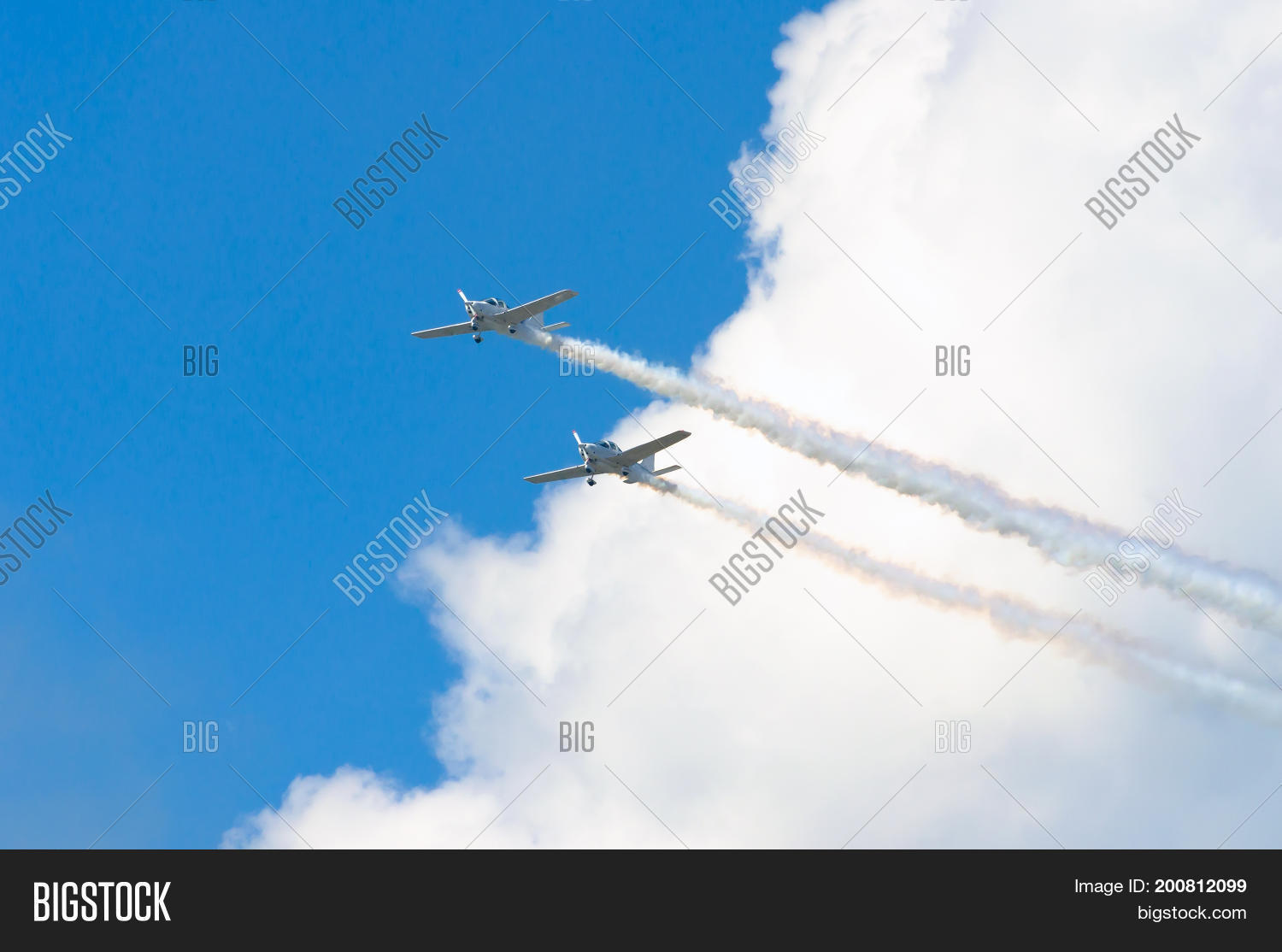 Two White Turboprop Image & Photo (Free Trial) | Bigstock