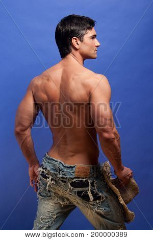 The hot sexy cowboy is ready for action