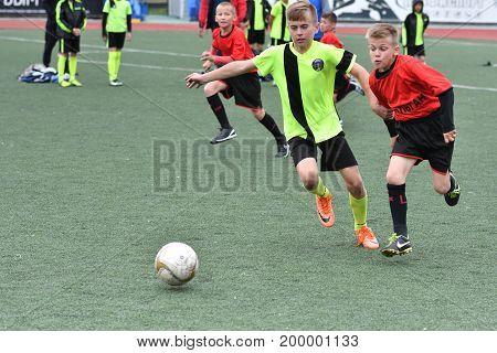 Orenburg, Russia - May 28, 2017 Year: The Boys Play Football