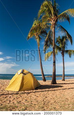 Tent Camping On The Island Of Kauai