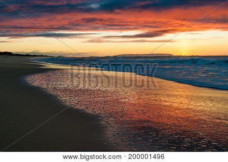 Sunset At Polihale Beach On Kauai, Hawaii