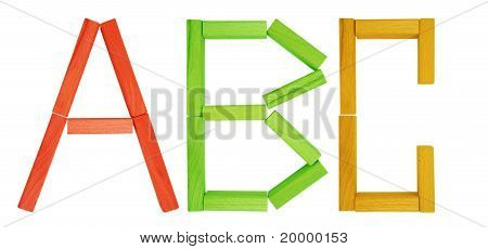 Wooden Blocks - Abc