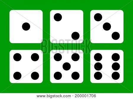 Dice, dice icon, casino, winning win Flat design Vector Illustration