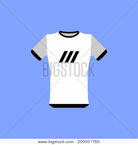 The sports t-shirt icon. Shirt and player symbol. Flat design Vector Illustration
