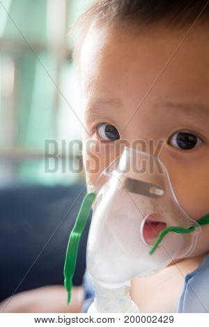 a boy has got sick. in hospital