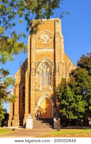 The historic St Aloysius Church is a great example of Gothic Revival architecture - Sevenhill, SA, Australia