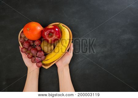 Somebody Beautiful Hands Showing Many Fruit