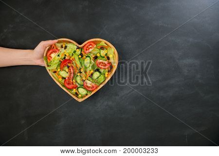 Somebody Showing Nutrition Vegetable Healthy Food