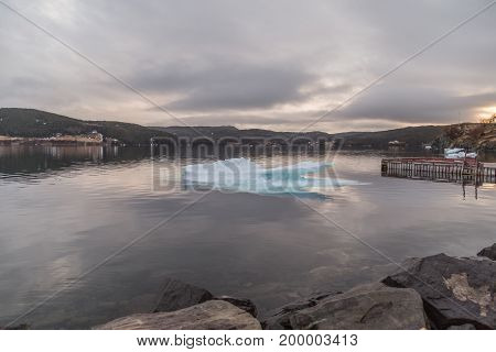 Ice On Black Water Trinity Newfoundland