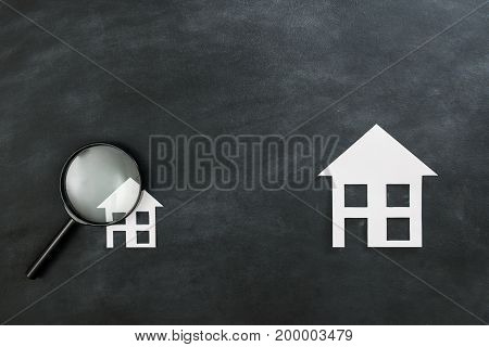 Housing Investment Concept With Magnifier
