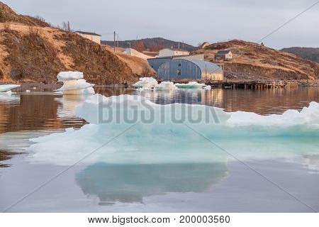 Ice Chunks On Water Trinity Newfoundland
