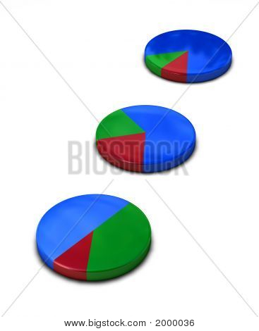 Pie Chart Metallic