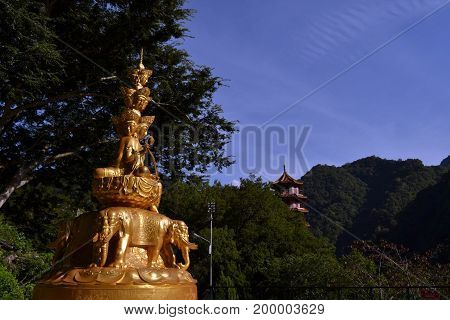 The Statue Of A God/goddess At Hsiang-te Temple, Taiwan