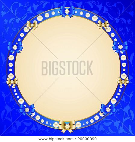 A beautiful background with lace ornaments and decorative frame
