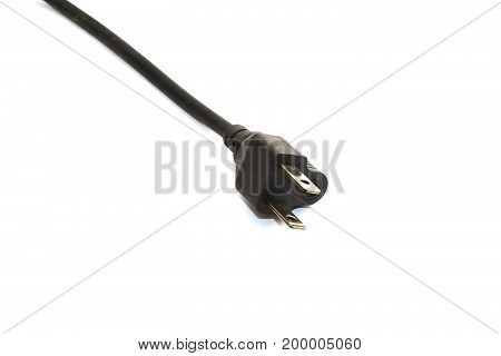 Standard Electric Plug  On White Background ,isolate Electric Plug