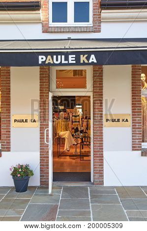 PARIS FRANCE - MAY 10 2017 : PAULE KA boutique in La Vallee Village. PAULE KA is a French ready-to-wear brand created in 1987 by Serge Cajfinger.