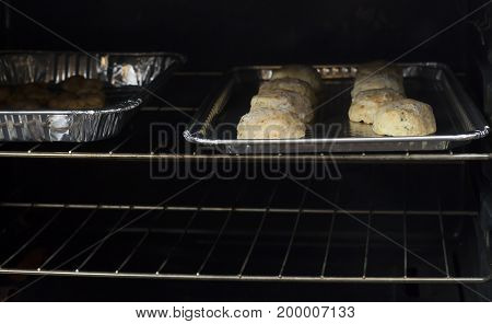 Cheesy Biscuits In An Oven