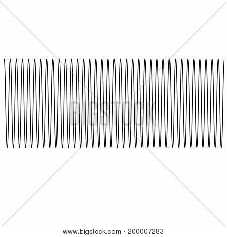sound wave of equal level. sound wave sign. sound wave on white background.