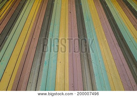 colorful old corrugated iron line abstract texture