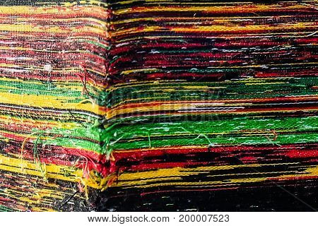 colorful rag fabric layer in fabric factor