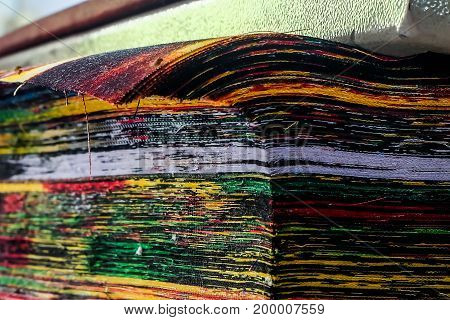 colorful rag fabric layer in The Fabric Factor