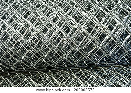 wire Mesh barb roll in the factory Business Industry concept
