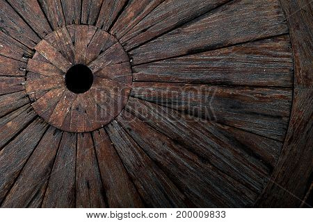 Weathered obsolete cracked textured wooden grunge background