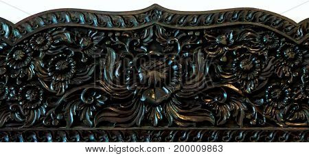 Native Thai style wood carving decorated antique design