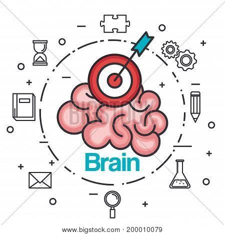 brain strategy think idea power concept vector illustration