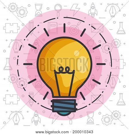 bulb light idea concept of big ideas inspiration innovation invention vector illustration