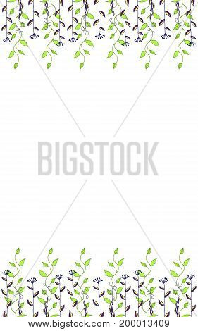 Colorful abstract floral background for design. Vector illustration