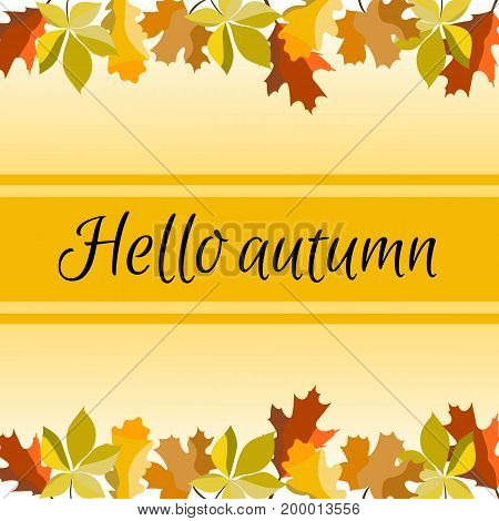 Colored autumn leaves. Sketch, design elements Vector illustration