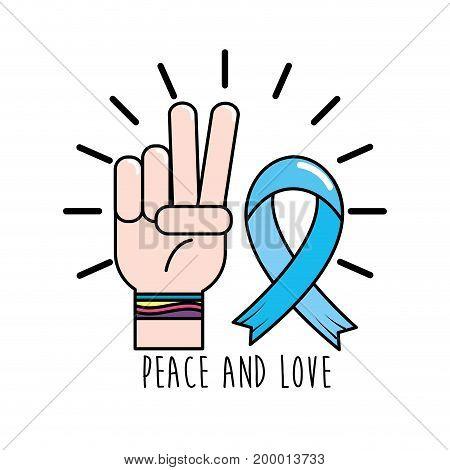global peace symbol to spirit harmony vector illustration