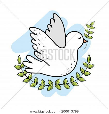 peaceful dove to worldwide harmony element vector illustration