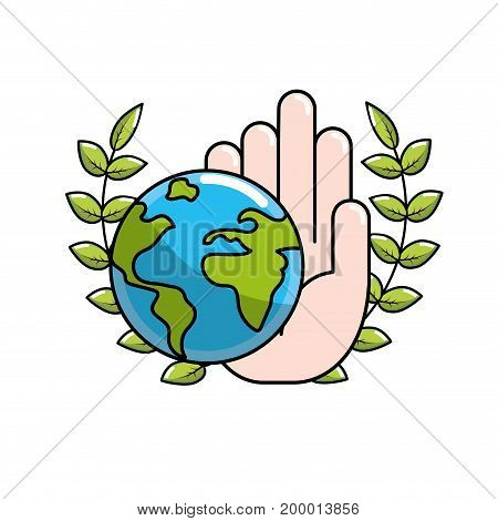 global peace in worldwide to harmony spirit vector illustration