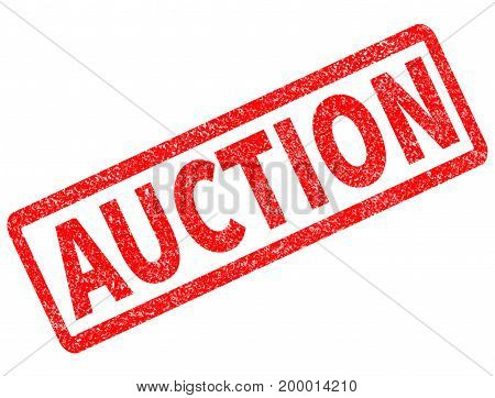 auction red rubber stamp on white background. auction sign.