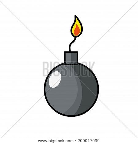 nuclear bomb explosion dangerous weapon vector illustration
