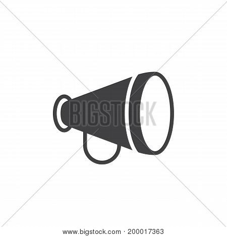 Advertising, announcement, bullhorn icon vector, filled flat sign, solid pictogram isolated on white. Symbol, logo illustration. Pixel perfect