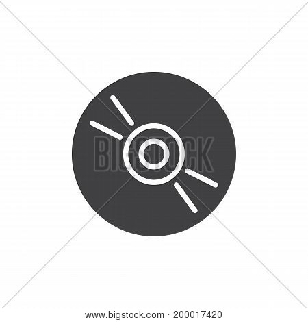 Cd, dvd compact disc icon vector, filled flat sign, solid pictogram isolated on white. Symbol, logo illustration. Pixel perfect