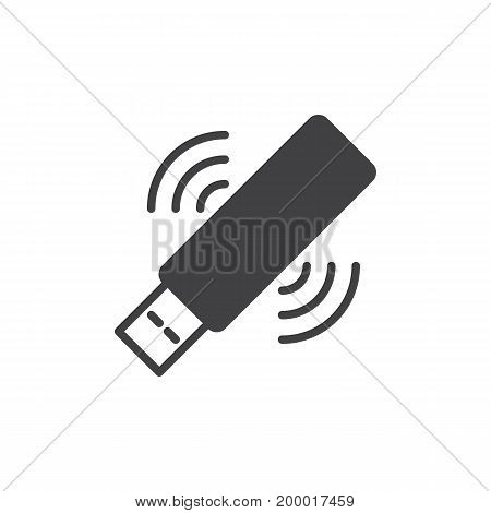 Wifi usb stick icon vector, filled flat sign, solid pictogram isolated on white. Symbol, logo illustration. Pixel perfect