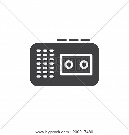 Audio tape recorder icon vector, filled flat sign, solid pictogram isolated on white. Symbol, logo illustration. Pixel perfect