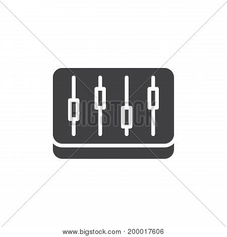 Mixer, levels icon vector, filled flat sign, solid pictogram isolated on white. Symbol, logo illustration. Pixel perfect