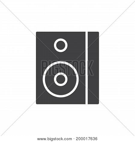 Sound speaker box icon vector, filled flat sign, solid pictogram isolated on white. Symbol, logo illustration. Pixel perfect