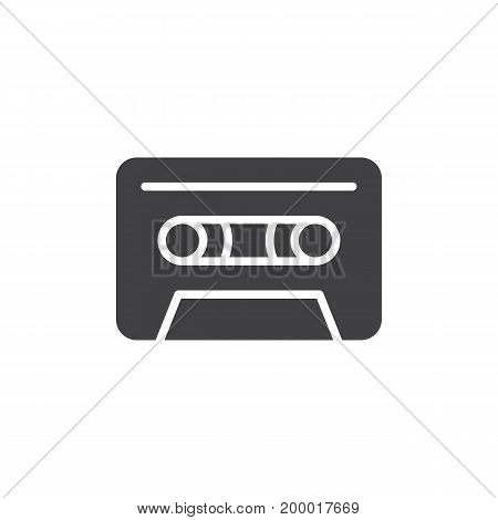Audio cassette icon vector, filled flat sign, solid pictogram isolated on white. Symbol, logo illustration. Pixel perfect