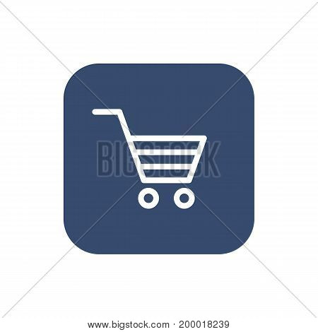 Shopping Cart icon. Flat design. Vector illustration