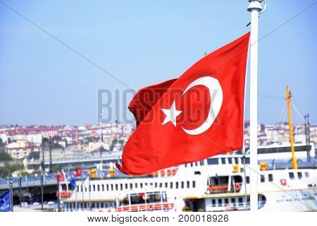 View and sight of Bosphorus and from Bosphorus cruise at the day, Istanbul, Turkey