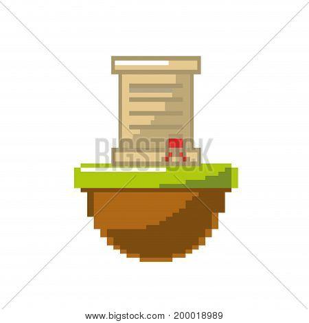 letter card message in the platform game vector illustration